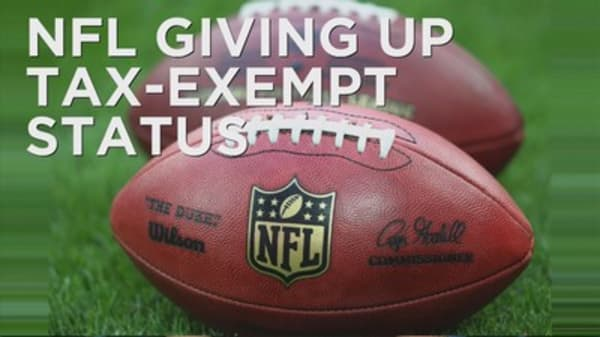 NFL drops tax-exempt status