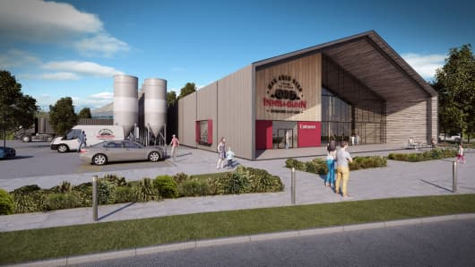 The proposed design for Innis & Gunn's first brewery
