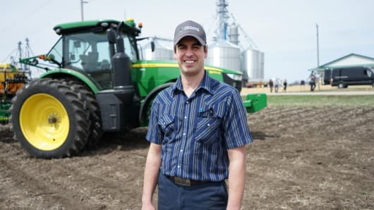 Matthew Schweigert, fourth-generation farmer, is using the beta version of the new product.