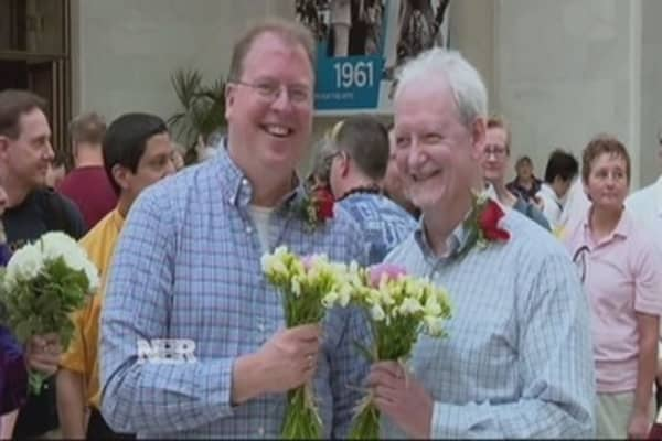 Same-sex marriage argued