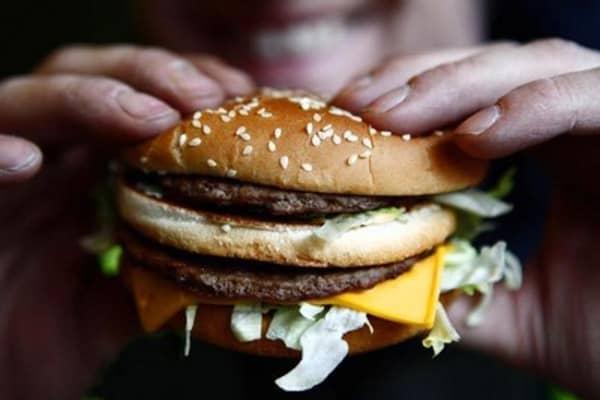 McDonald's menu by calories and weight