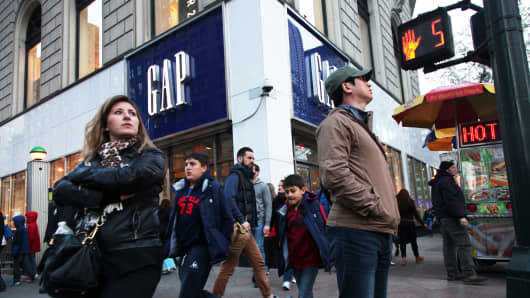 A Gap store in New York.