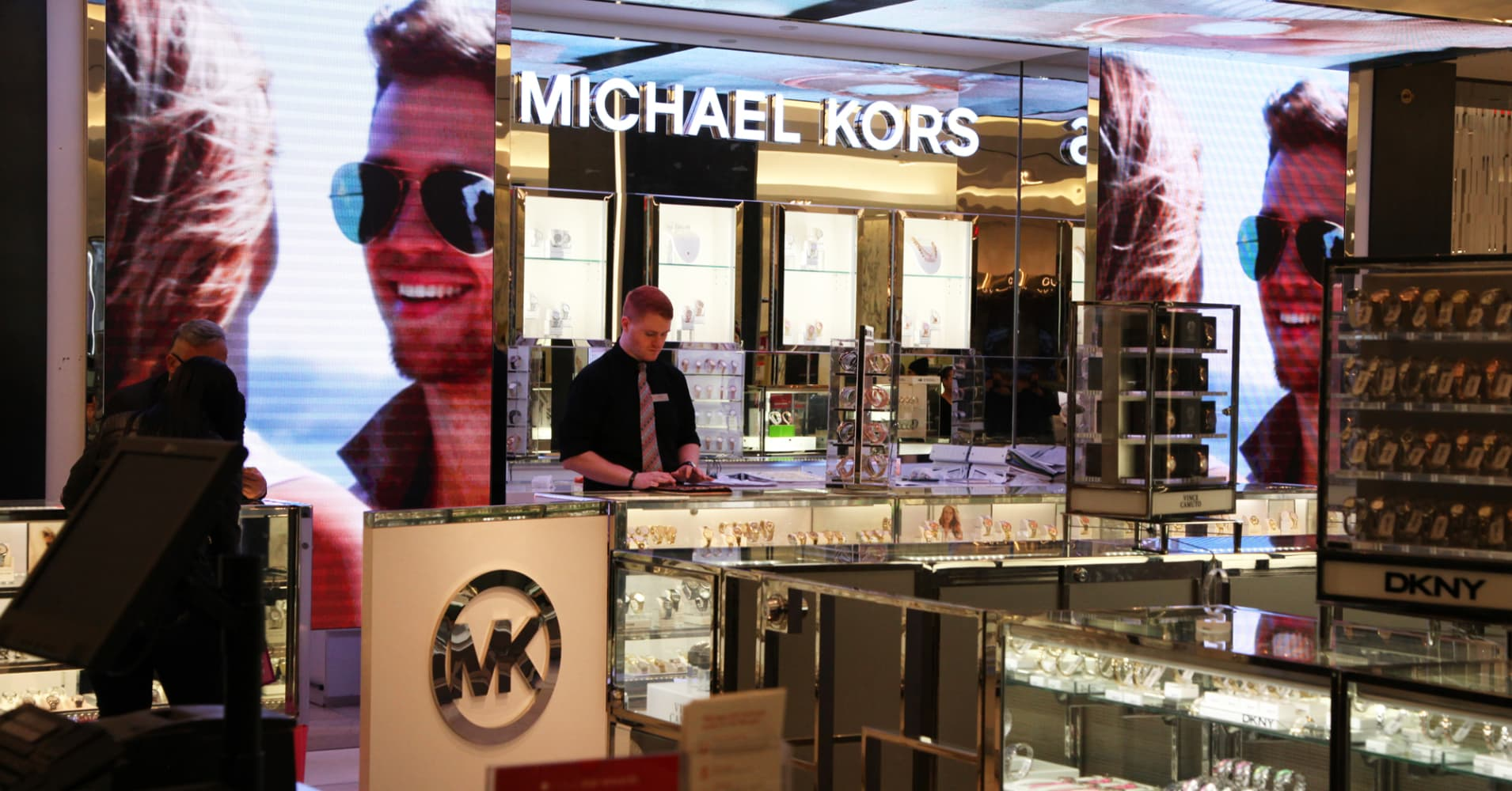 A Michael Kors counter at Macy's