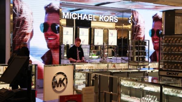 A Michael Kors counter at Macy's