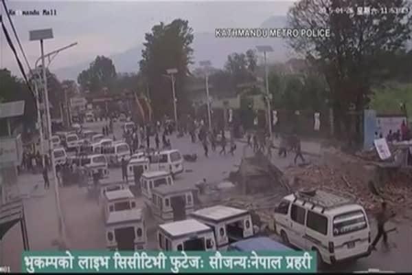 Amazing video of massive Nepal earthquake