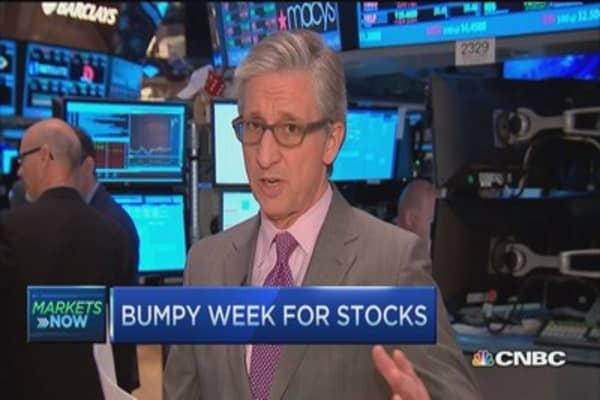 Bumpy week for stocks