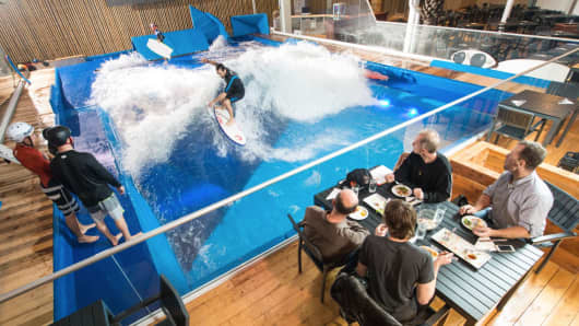 American Wave Machines' surfing technology will be installed at three shopping centers by the end of 2016.