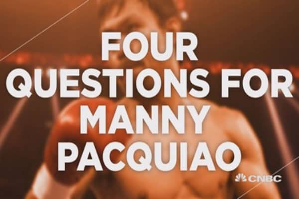 Four rounds with Manny Pacquiao