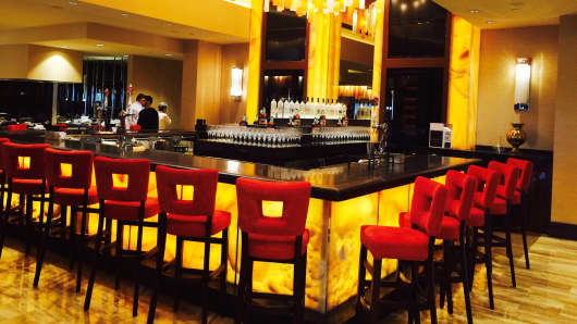 The bar at The Mansion, Churchill Downs