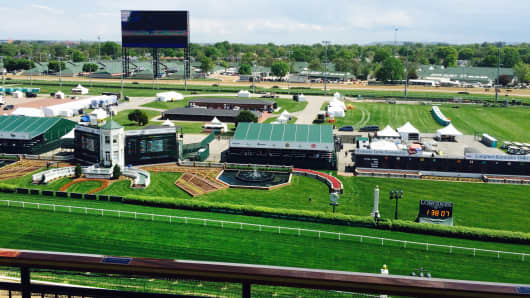 The view from The Mansion at Churchill Downs