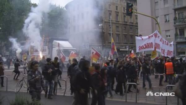 Violent protests rock Milan
