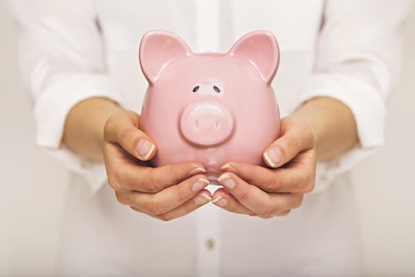 Retirement savings piggy bank