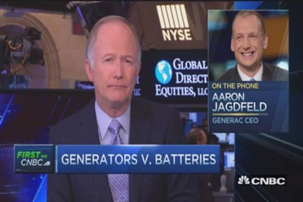 Generators versus batteries