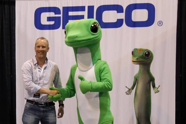 Shareholder's visit the Geico display that the 2015 Berkshire Hathaway Annual Shareholder's Meeting in Omaha, Nebraska on May 2, 2015.