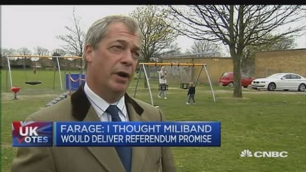 Can't renegotiate with EU on key issues: UKIP's Farage