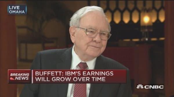 Buffett: We'll make 'considerable' money on IBM