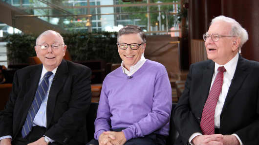 Charlie Munger, Bill Gates and Warren Buffett.