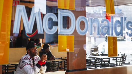 A McDonald's restaurant in Brooklyn, New York.