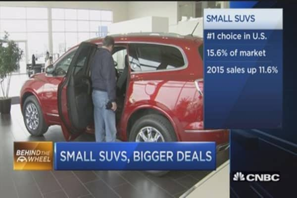 Small SUVs, big sales