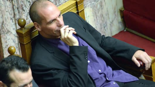 Greek Finance Minister Yanis Varoufakis settles into his role in the new Greek government