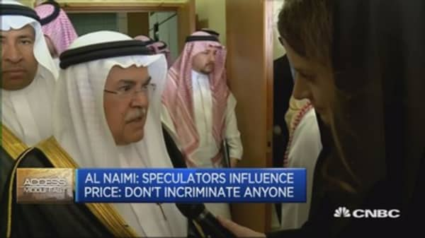 Saudi oil min: Not worried about oil price