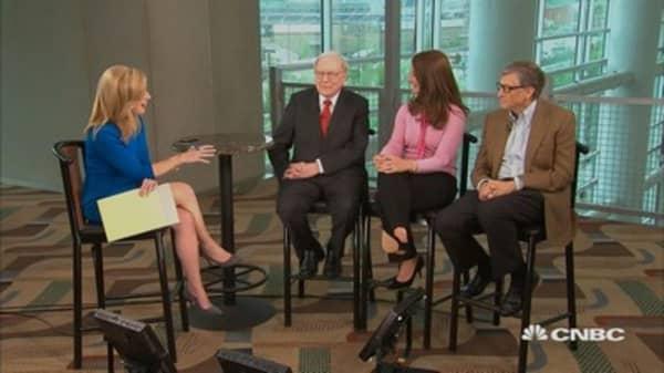 Buffett, Bill and Melinda Gates on giving