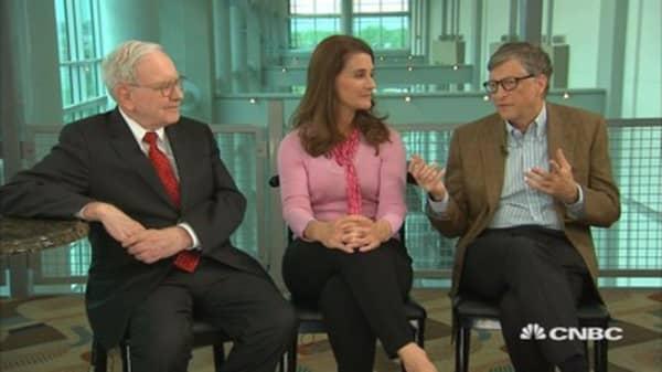 Buffett, Bill and Melinda Gates on biggest accomplishments