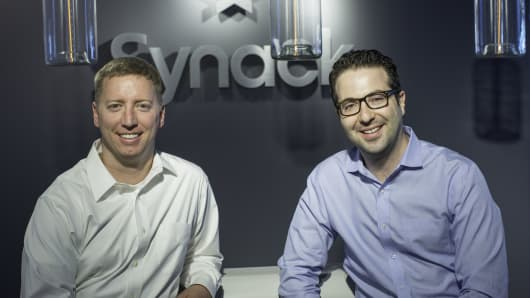 Synack founders Mark Kuhr (left) and Jay Kaplan