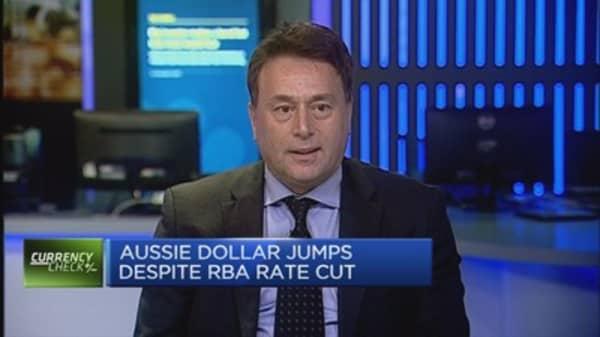 Aussie jumps despite RBA rate cut