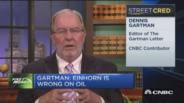 Gartman: Einhorn wrong on oil