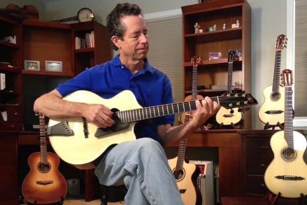 Jay Lichty, founder of Lichty Guitars.