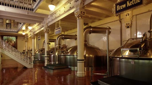One of the brewing facilities at Anheuser-Busch.