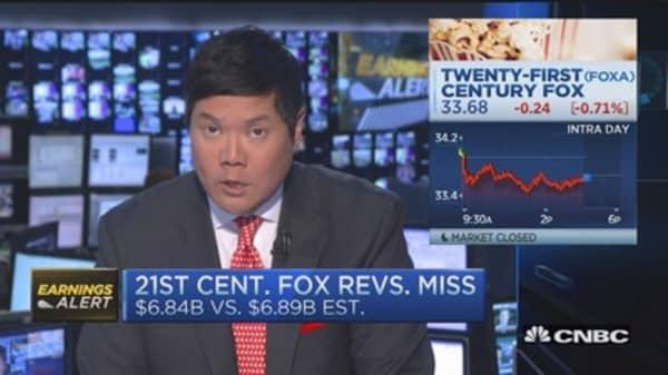 21st Century Fox beats on EPS