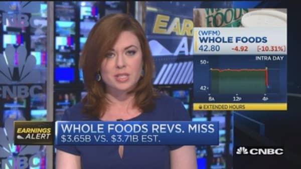 Whole Foods EPS inline; light miss on revenue