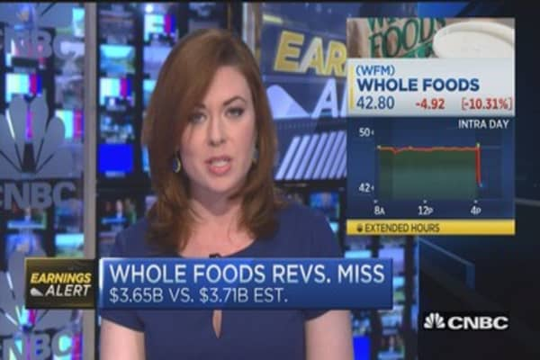 Whole Foods EPS inline; light miss on revenue