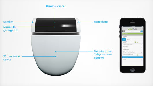 Coming soon to your kitchen: The 'smart' trash can