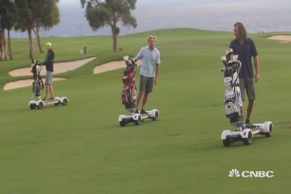 Surfing the greens with golf's new cart