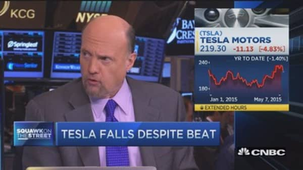 Cramer talks Tesla earnings