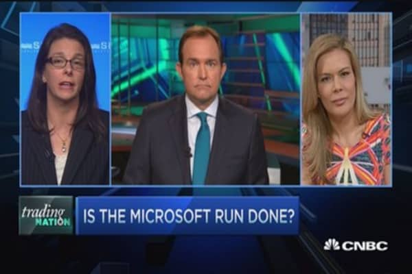 Is the Microsoft run done?