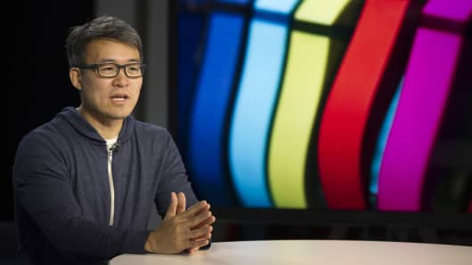 James Park, co-founder and chief executive officer of Fitbit Inc.