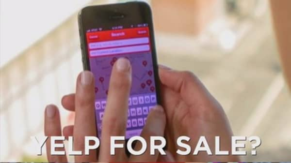 Yelp may be for sale