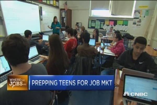 Creating jobs for teens
