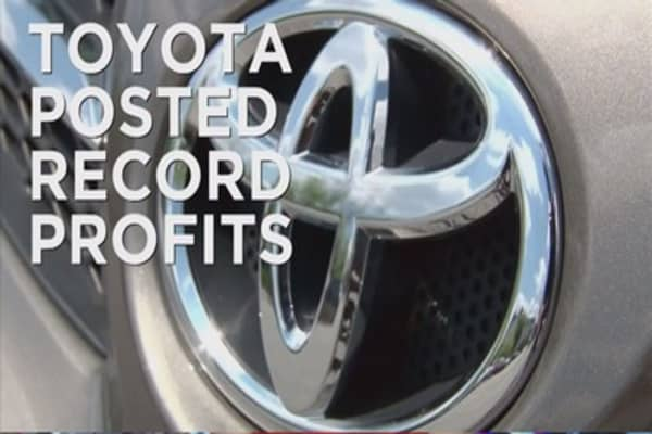 Toyota reports record profits
