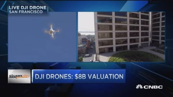 DJI Drones valued at $8B