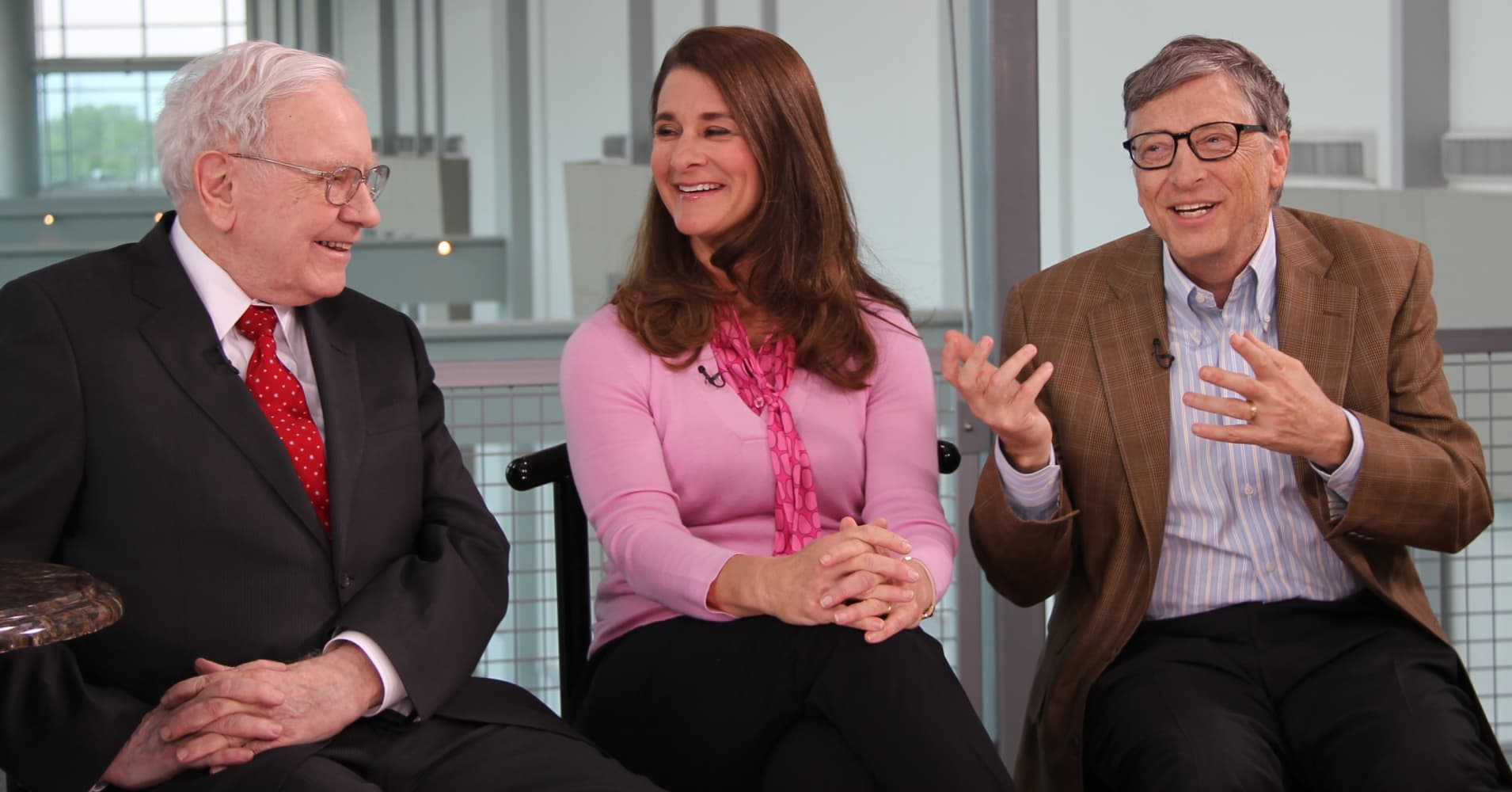 Warren Buffett, Melinda and Bill Gates discuss philanthropy.
