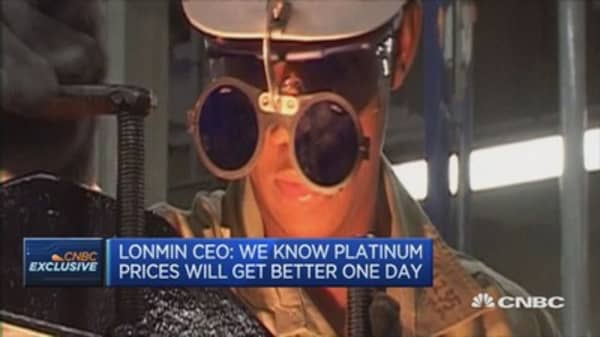 Hopeful for platinum rebound: LonMin CEO