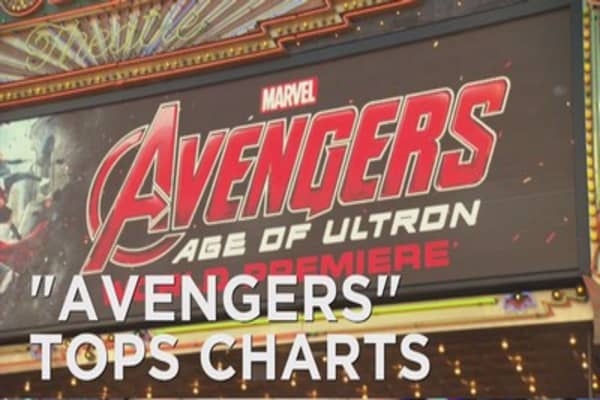 'Avengers' tops box office again