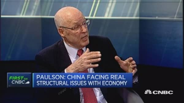 China faces 'real structural issues': Paulson