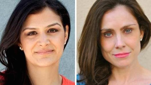 Meerkat hires former Tumblr's head of media and partnerships, Sima Sistani (L) and Twitter's former head of media Chloe Sladden.