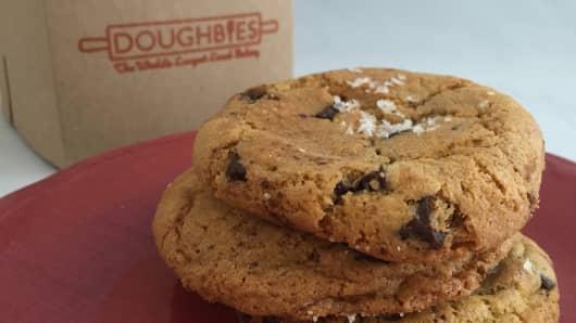 Doughbies' Chocolate Chunk with Sea Salt cookies.